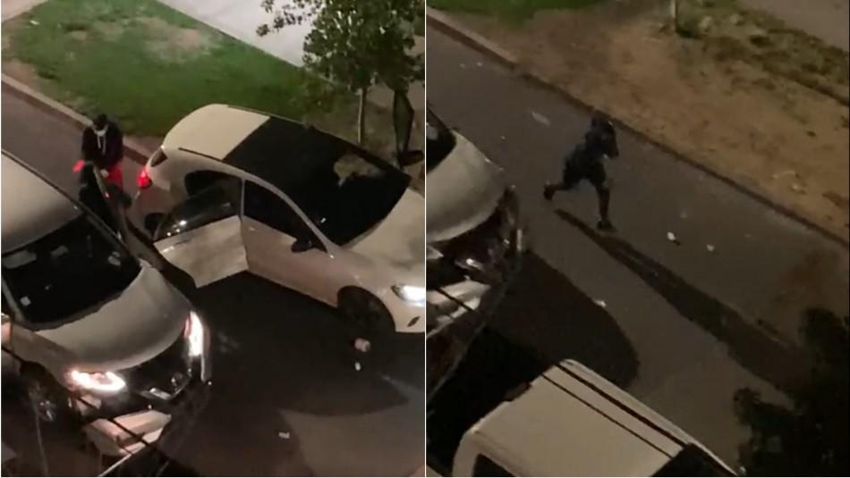 Lanzando hasta cremas y maceteros: Vecinos frustran violenta encerrona en San Miguel