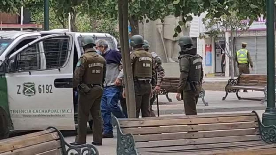 Dejan en libertad a adulto mayor que habría ingresado armado a Municipalidad de Rancagua