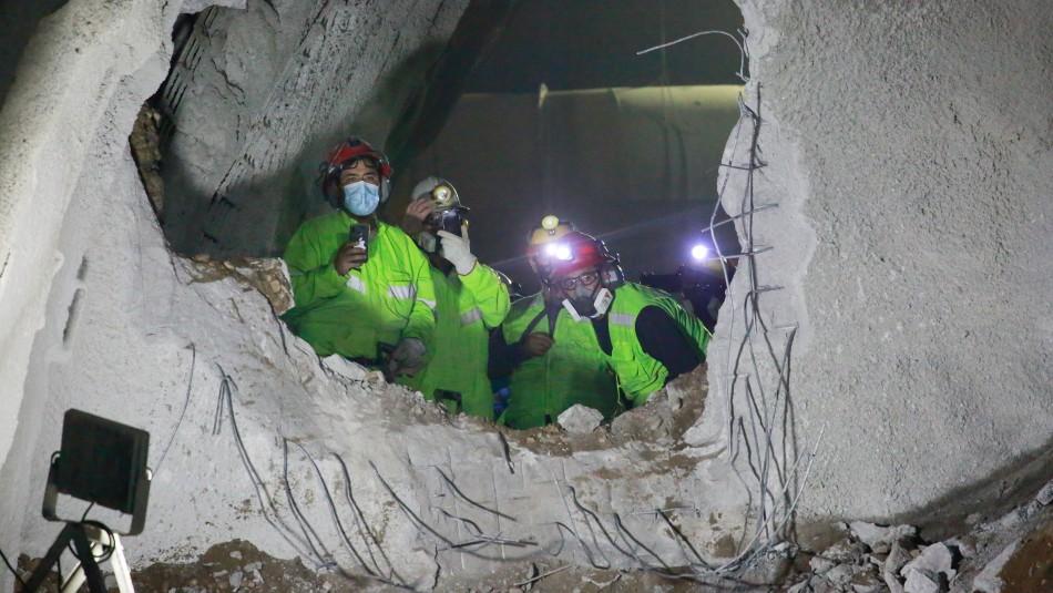 Metro de Santiago presentó extensión de túnel hacia el centro cívico de Quilicura