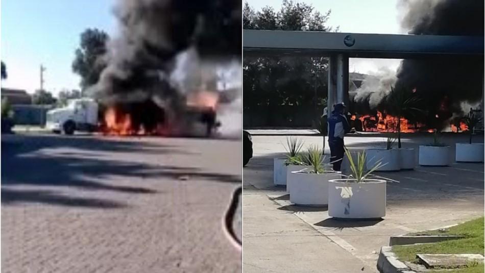 Camión de combustible se incendia en Ruta 68 en las cercanías de Placilla