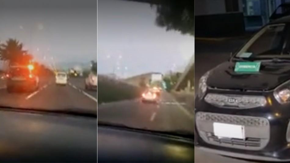 Carabineros recupera auto robado en Quilicura.