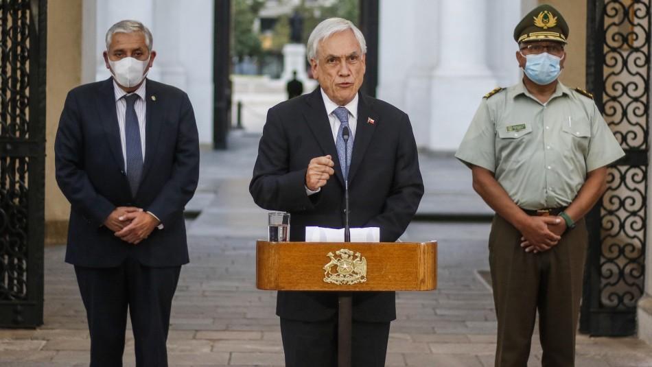 Piñera busca lograr un acuerdo nacional