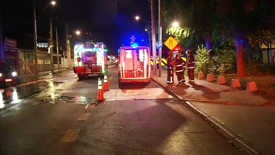 Incendio afectó a Cementerio General de Recoleta y se expandió a supermercado