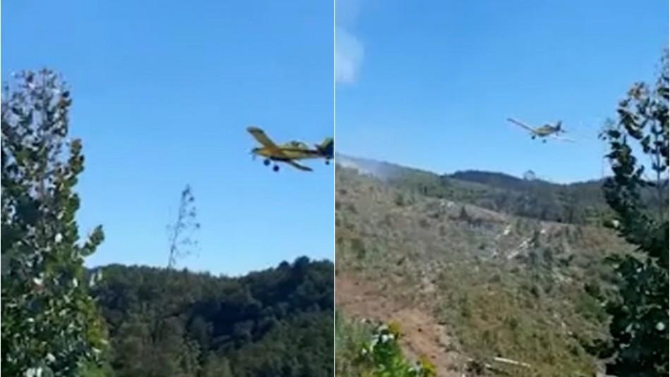 Avioneta realiza aterrizaje forzoso en Nueva Imperial: Piloto fue rescatado