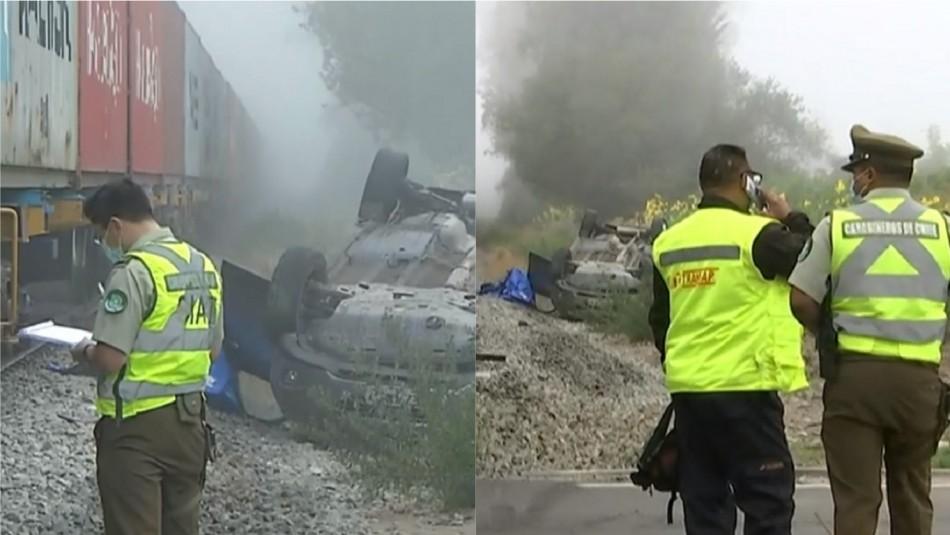 Accidente ferroviario dejó una persona fallecida en comuna de Padre Hurtado