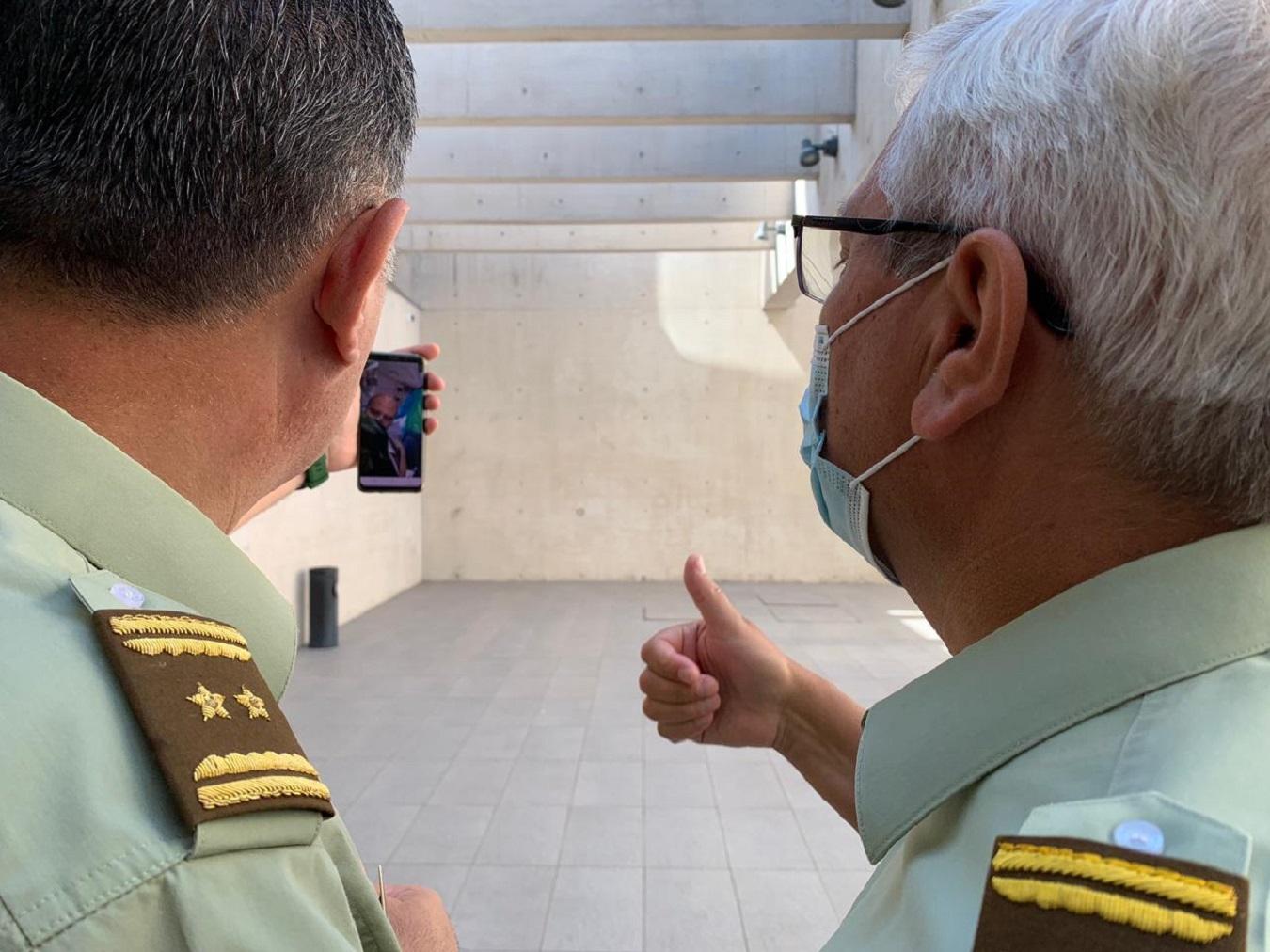 Llamado del Director General de Carabineros al funcionario herido.