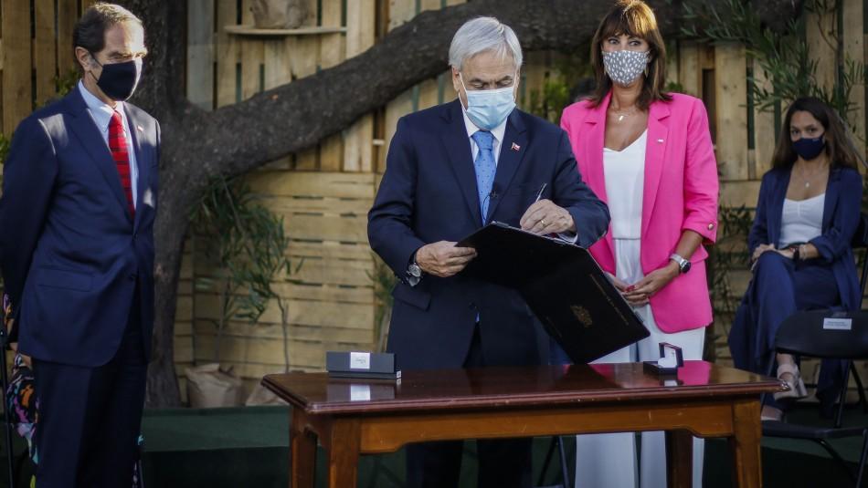 8M: Piñera anuncia proyecto que facilita el cobro de pensión de alimentos y 2 iniciativas más