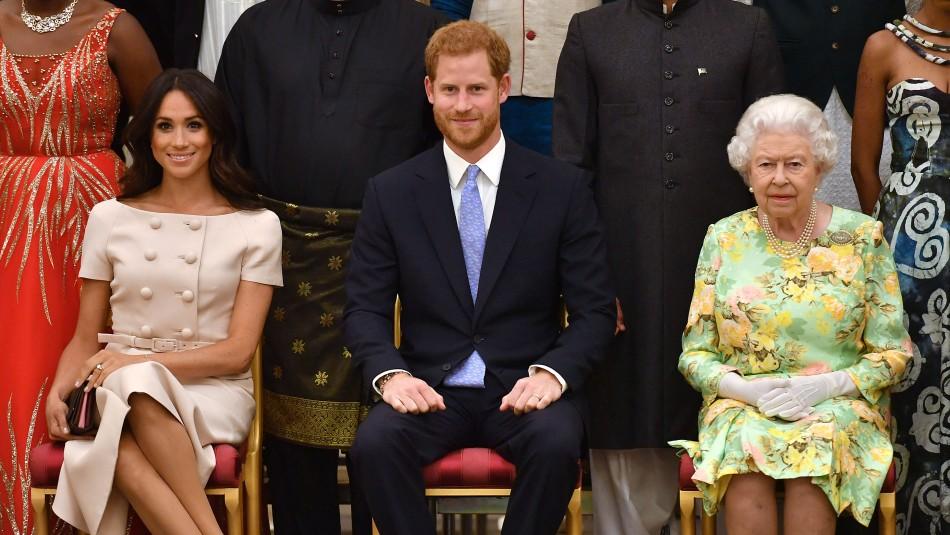 Meghan, Harry y la Reina Isabel II