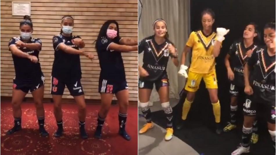 Talento dentro y fuera de la cancha: Jugadoras de la U y del Morning realizan divertidos bailes