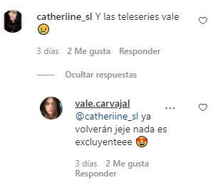 Valentina Carvajal responde a sus seguidores