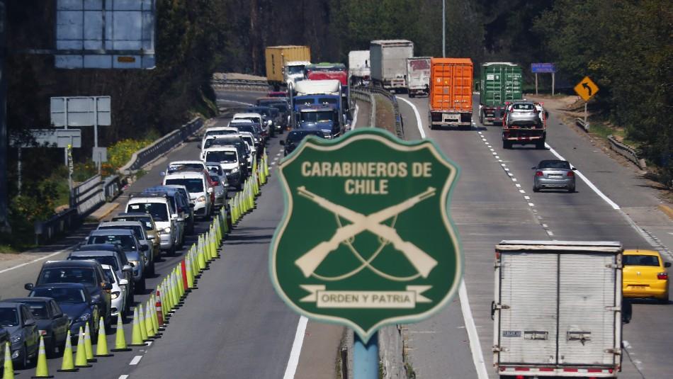 Más de 60 mil vehículos han salido desde la Región Metropolitana en Semana Santa