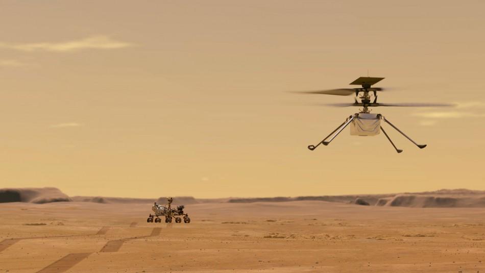 Helicóptero sobre Marte