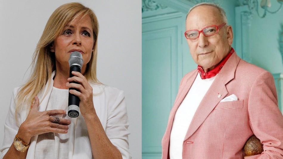 Cecilia Bolocco y estilista Pato Araya