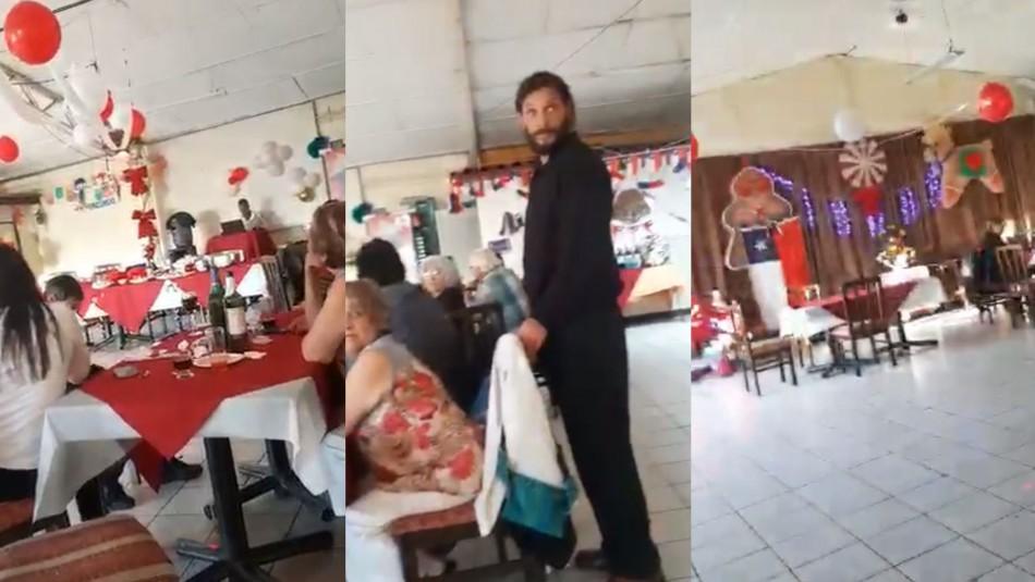 Video registra momento en que sorprenden celebración de matrimonio en Viña del Mar
