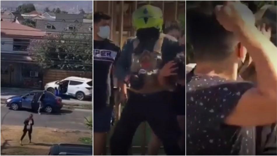 Violenta encerrona en Quilicura.