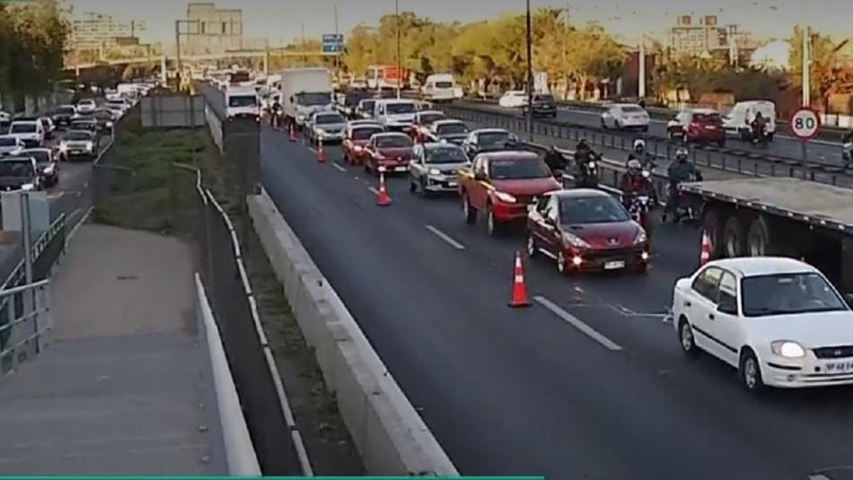 Gran congestión en Ruta 5 Sur en la salida Carlos Valdovinos por controles sanitarios