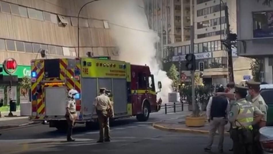 Emergencia eléctrica genera llamas y emanación de humo en estación de Metro Tobalaba