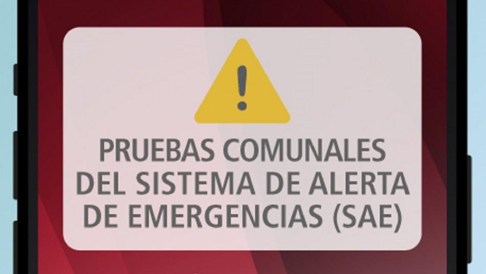 Alertan por Prueba SAE de emergencia.