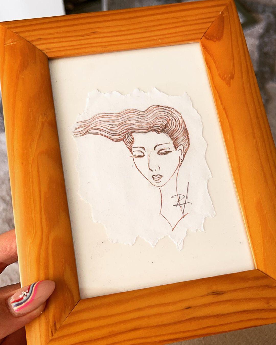 El dibujo de Kel hecho por Pato Araya