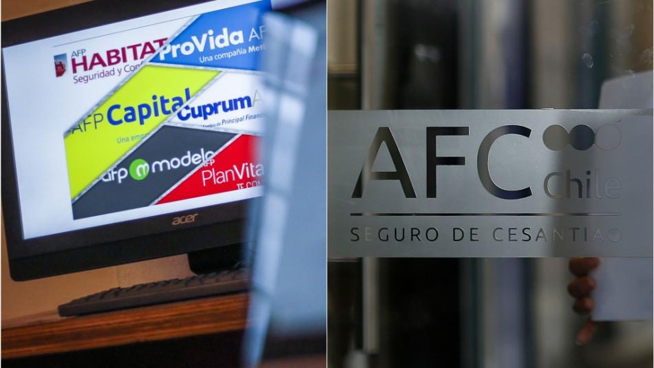 Retiro de AFP vs. Seguro de Cesantía: Revisa los montos que podrías retirar con cada iniciativa