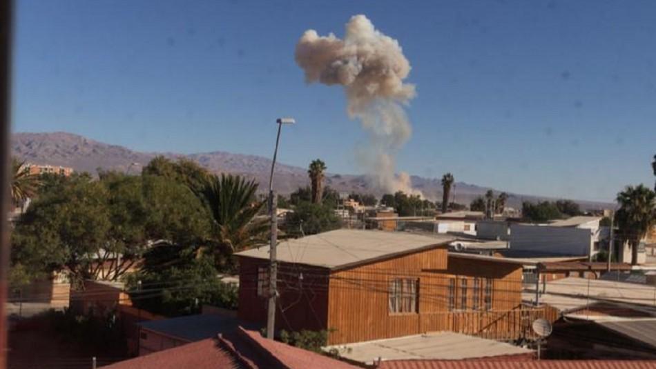 Se registra explosión en planta de Calama.