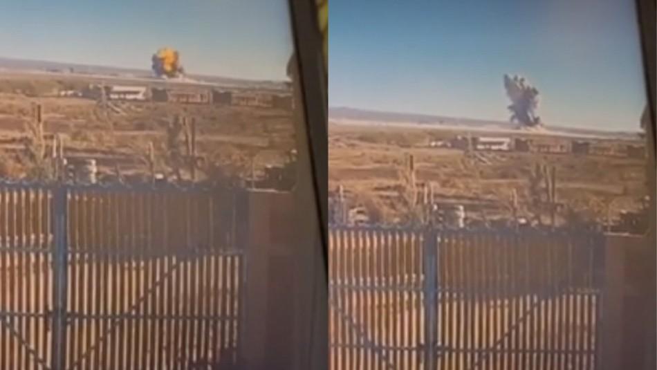 Violenta explosión en planta de Calama.