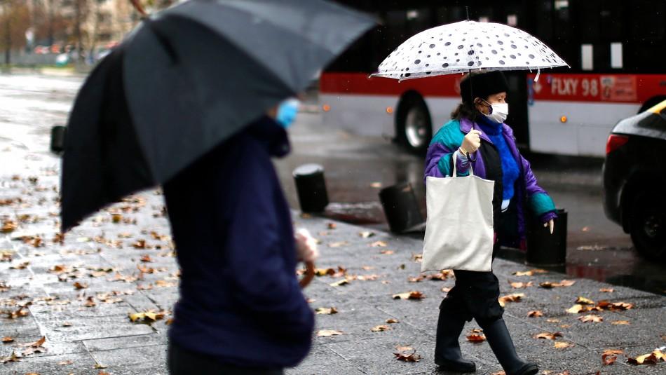 Pronostican precipitaciones para la RM: revisa los días que lloverá