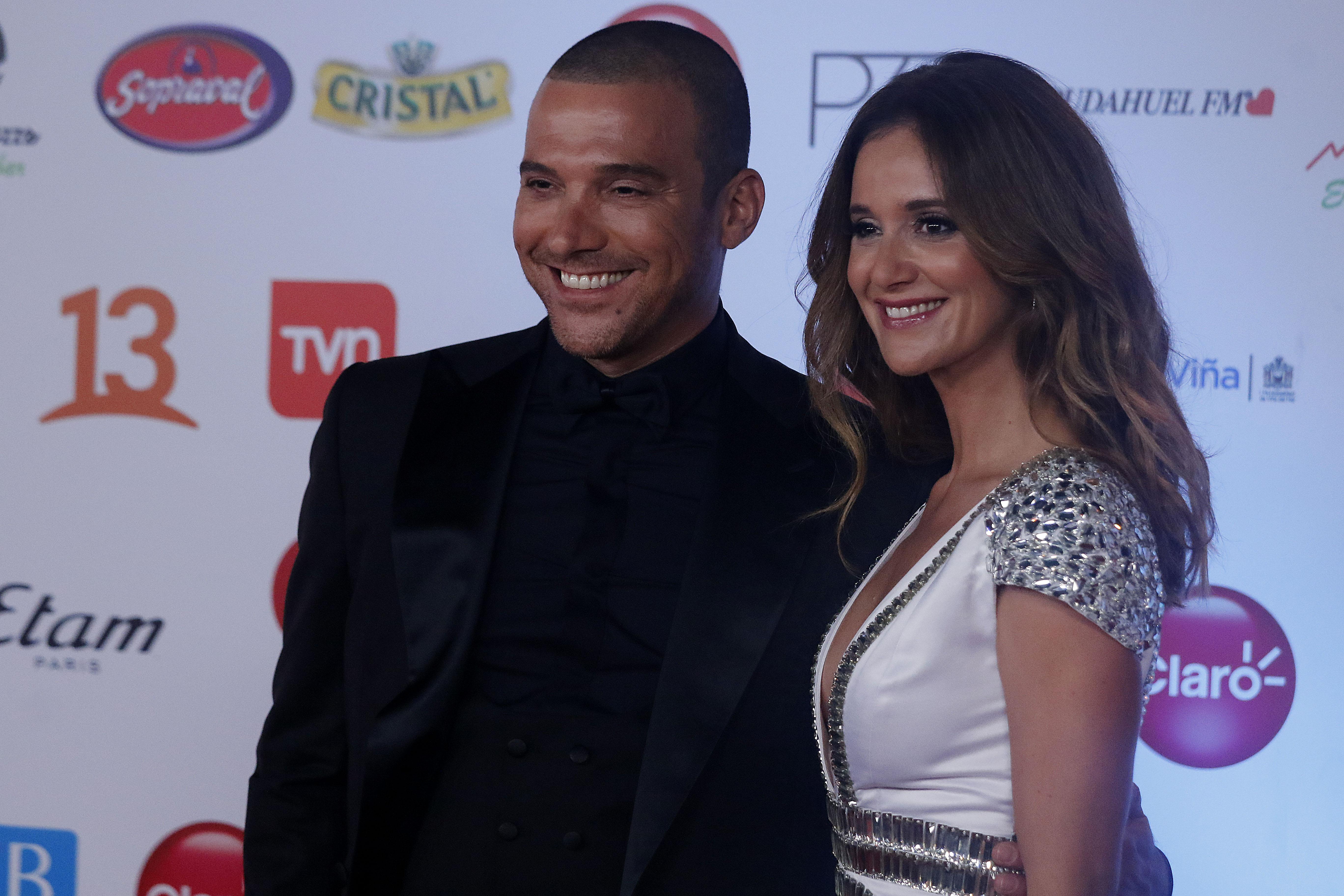 Julián Elfenbein y Daniela Kirberg en una pasada gala del Festival de Viña