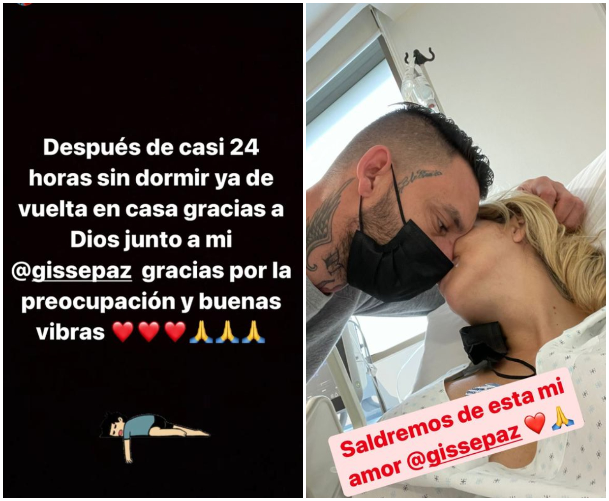 Historias de Instagram de Mauricio Pinilla