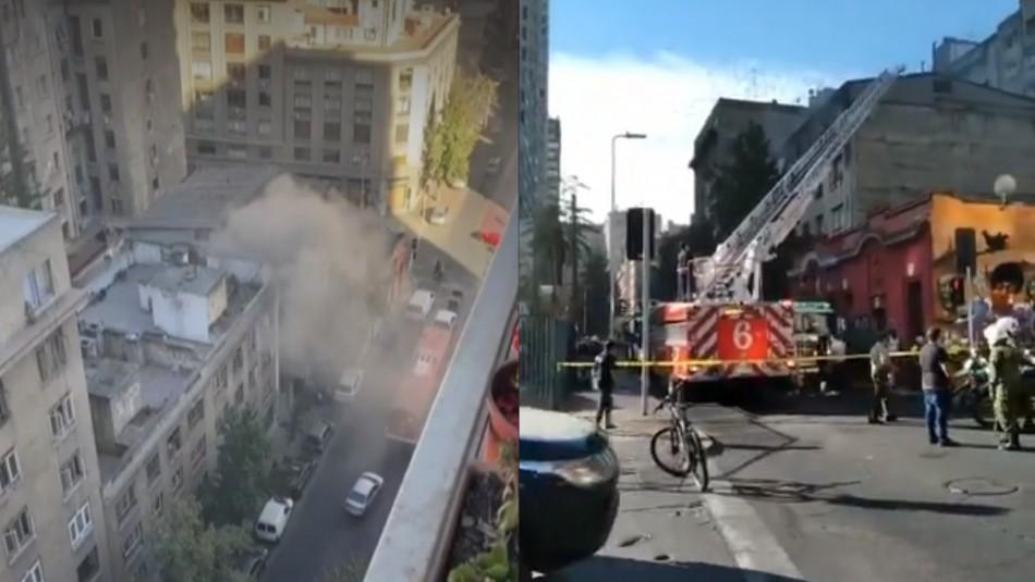 Incendio en edificio de Santiago Centro provoca evacuación de personas