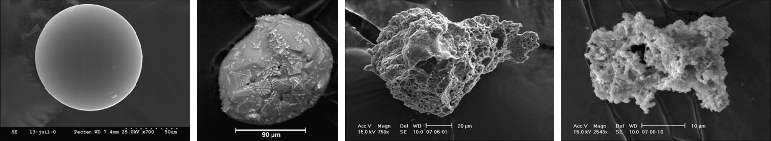 Fragmentos de meteoritos encontrados