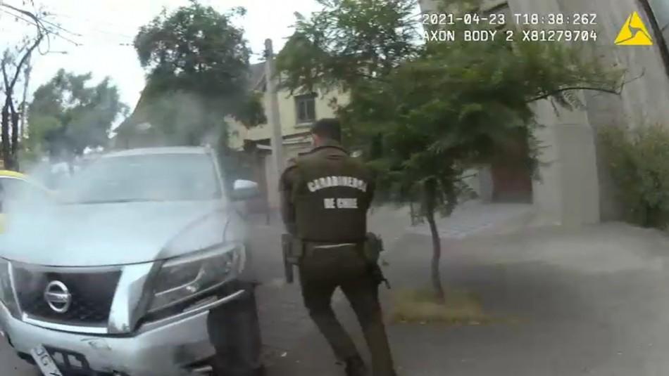 Carabinero balea a delincuente tras cinematográfica persecución policial en Providencia