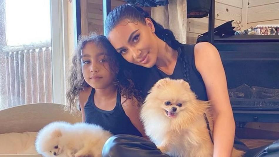 Critican a Kim Kardashian por disfrazar a la mascota de su hija y tomarle estas fotos