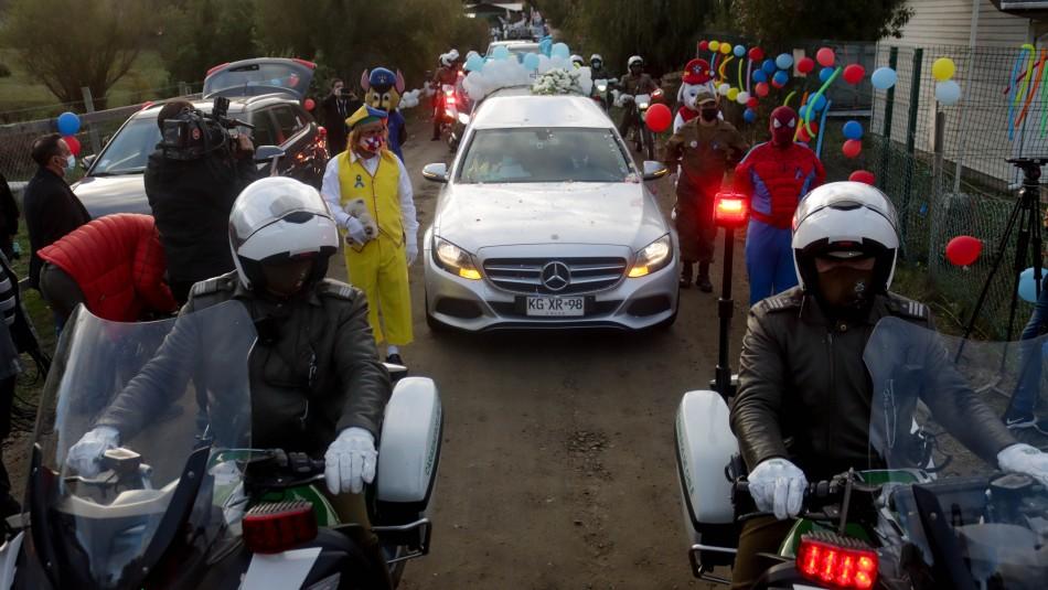 Cortejo fúnebre junto a Tomás Bravo ya está en Arauco.