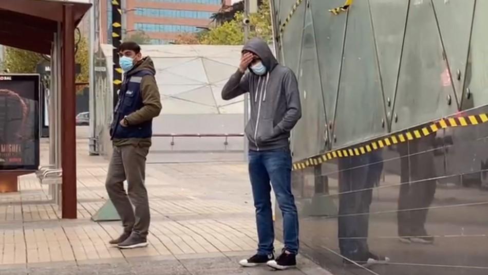 Iba a visitar a un primo: sujeto covid positivo es retenido tras viajar en el Metro