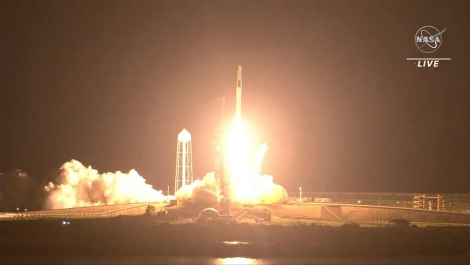 Despega la tercera misión tripulada de SpaceX hacia la ISS: así fue el lanzamiento