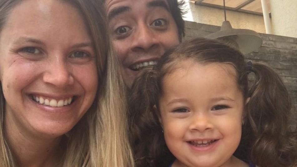 Pareja de Fernando Godoy en el cumpleaños de su pequeña hija: