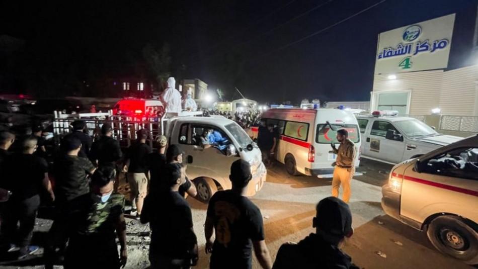 Al menos 82 muertos en incendio en hospital para enfermos de coronavirus en Irak