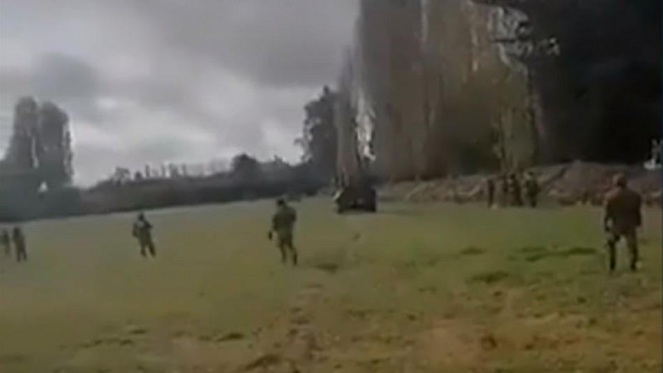 6 comuneros mapuche detenidos en Nueva Imperial: Hubo un herido con lesión ocular