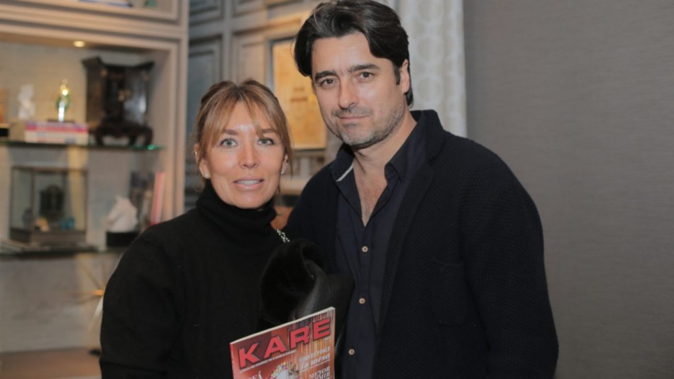 Jorge Zabaleta y su esposa