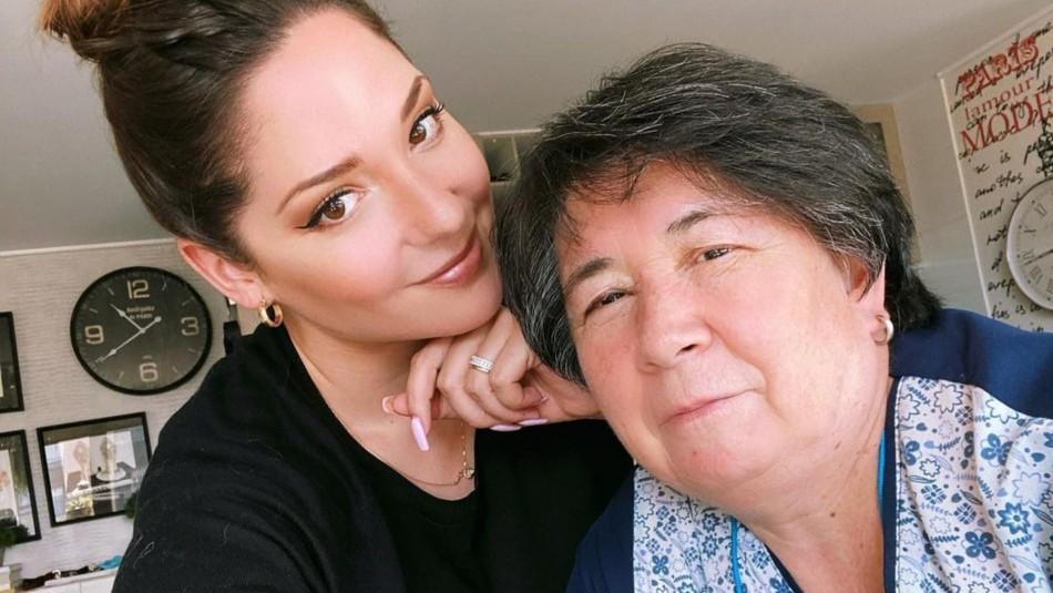 Kel Calderón y su asesora del hogar Nancy Huenupe