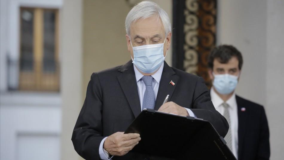 Tercer retiro del 10%: Presidente Piñera firma promulgación y Contraloría toma razón del decreto