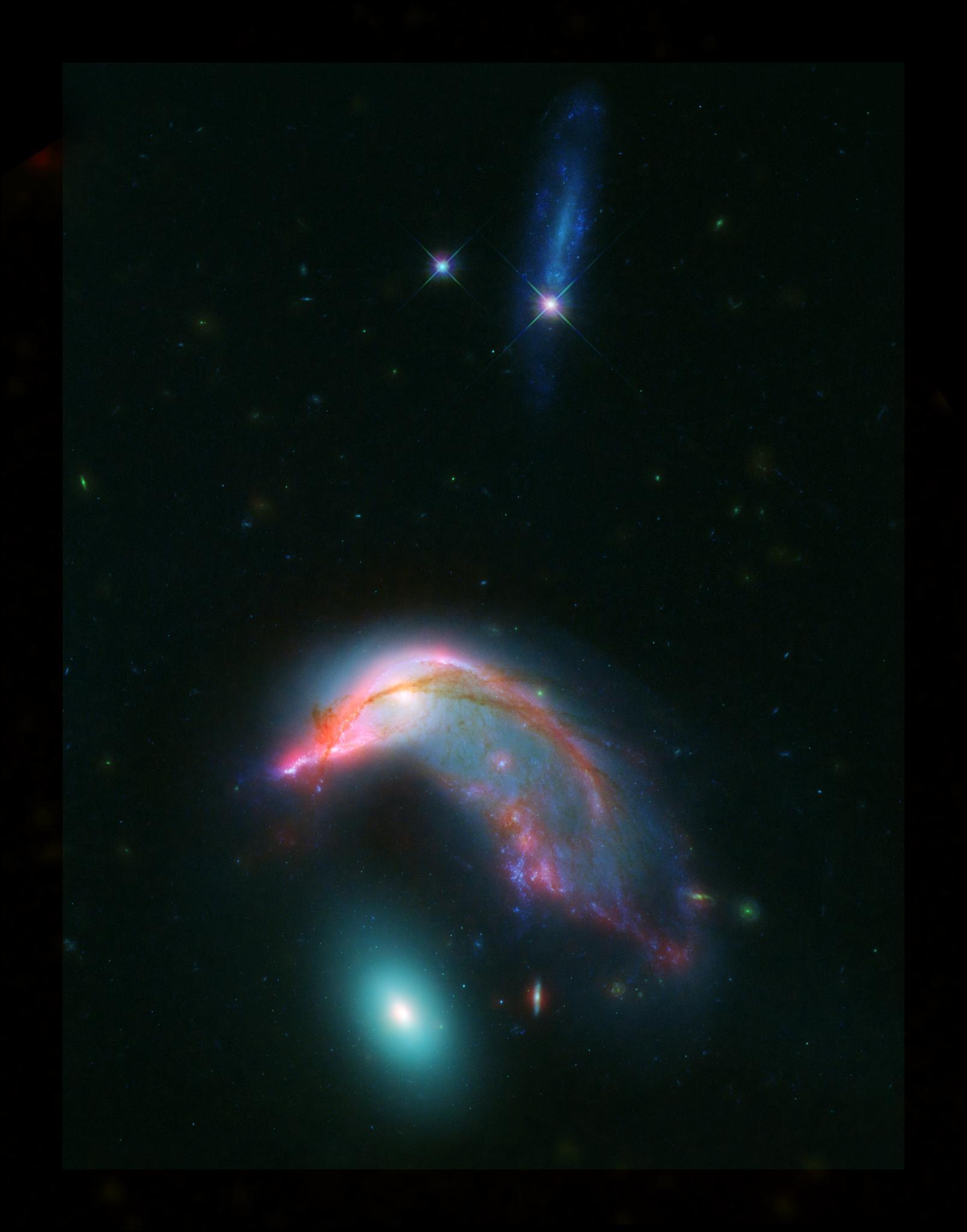 Fotografia della schiera di galassie conosciuta come Arp 142
