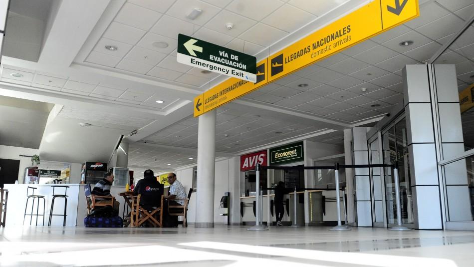 Evacuan parcialmente el aeropuerto de Iquique por pasajero con coronavirus