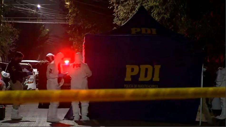PDI investiga femicidio y homicidio en San Joaquín: Autor sería expareja de una víctima