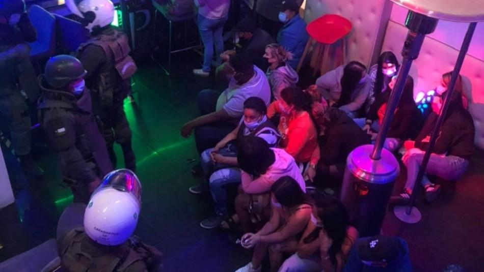 28 detenidos por fiesta clandestina en un night club de Coquimbo
