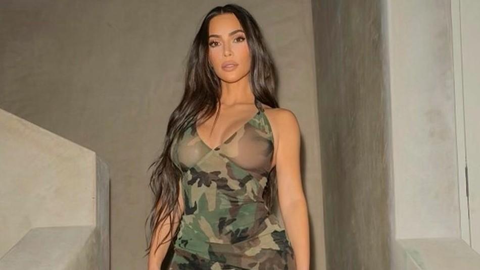 Otro look excéntrico de Kim Kardashian: ¡Se decolora las cejas y se vuelve rubia!