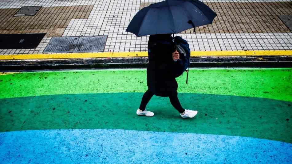 Así será la lluvia pronosticada para Santiago este fin de semana
