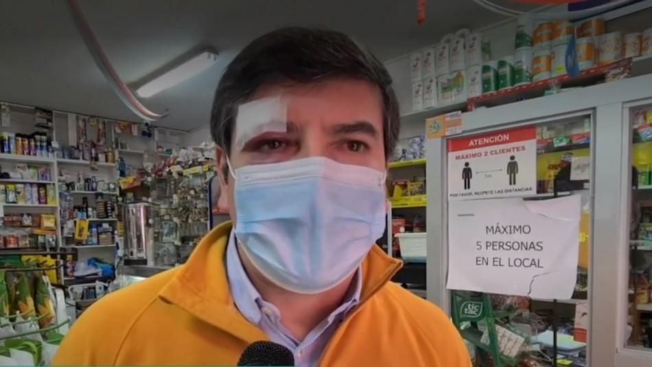 Video registra agresión a dueño de minimarket: Terminó con 5 puntos por pedir usar mascarilla