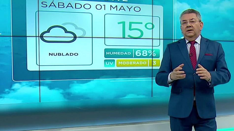 Jaime Leyton y pronóstico del tiempo para el fin de semana en la RM: